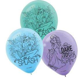 Balloons-Latex-Little Mermaid Ariel-12''-6pk