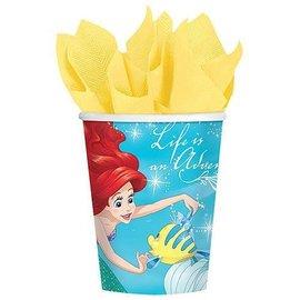 Cups-Little Mermaid Ariel-9oz-8pk-Paper