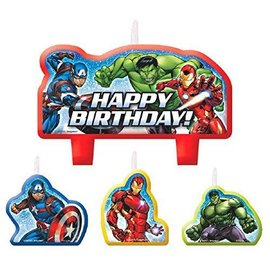 Candle Set-Epic Avengers HBD-4pk