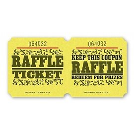 Ticket Roll-Raffle-Double-1000 ticket (Yellow)