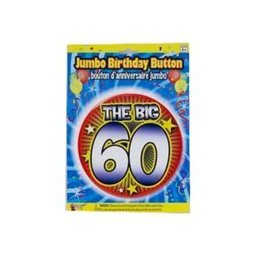 Jumbo Birthday Button - The Big 60