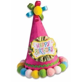 Birthday Headband - Pink Happy Birthday Cone