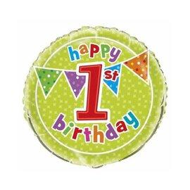 Foil Balloon - Happy 1st Birthday
