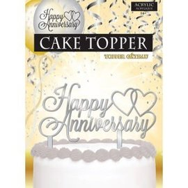 Cake Topper - Happy Anniversary