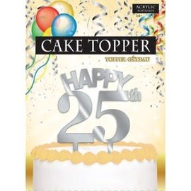 Cake Topper Happy 25th