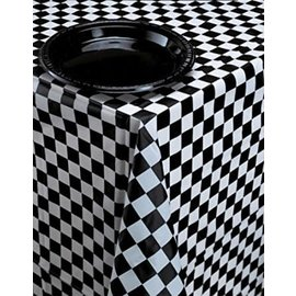 Tablecover - Checkered Black and White