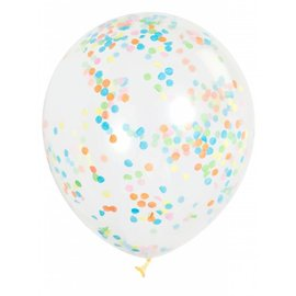 Balloons - Confetti Multi-colour 6pk