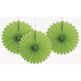 Paper Fan - Lime Green