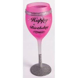 Wine Glass - Happy Birthday