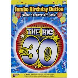 Jumbo Birthday Button - The Big 30