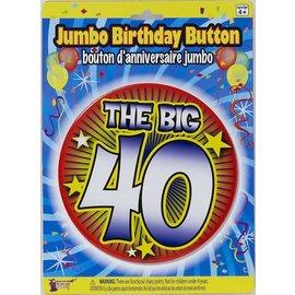 Jumbo Birthday Button - The Big 40