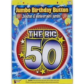 Jumbo Birthday Button - The Big 50