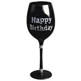 Wine Glass - Happy Birthday Silver