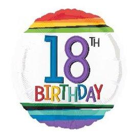 Foil Balloon - 18th Birthday Rainbow