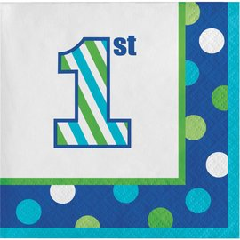 Napkins LN - 1st Birthday Sweet Stripes Boy