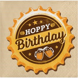 Napkins Bev - Beers and Cheers Hoppy Birthday