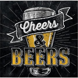 Napkins Bev - Beers and Cheers