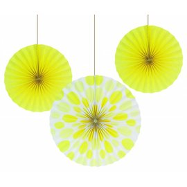 Paper Fans - Yellow