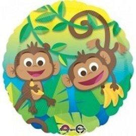 Foil Balloon - Monkeys