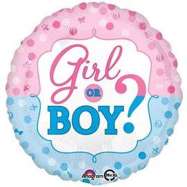 """Foil Balloon - Girl or Boy? - 17"""""""