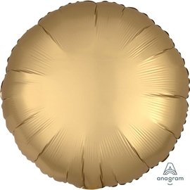 Foil Balloon - Gold Satin Luxe Round