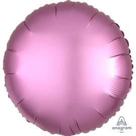 Foil Balloon - Flamingo Satin Luxe Round