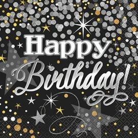 Napkins LN - Glittering Happy Birthday