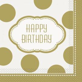 Napkins LN - Happy Birthday Golden
