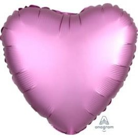 Foil Balloon - Flamingo Satin Luxe Heart