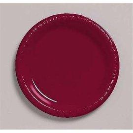 "Plastic Plates 20pc Berry 7"""