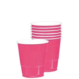 Cups Plastic Bright Pink 16oz. (20 pk)