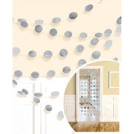 Garland - Silver Glitter Dots