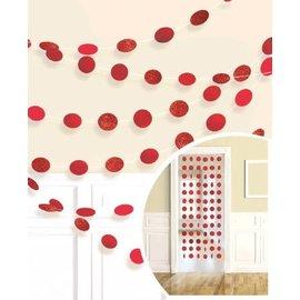 Garland - Red Glitter Dots