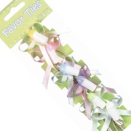 Bottle Favour Ties - Multicoloured (6pk)