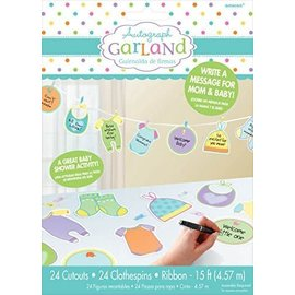 Autograph Garland - Baby Clothes