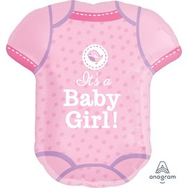 Foil Balloon - It's A Baby7 Girl Jumper - 22x24""