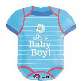 "Foil Balloon - It's A Baby Boy Jumper - 22x24"""