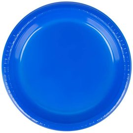Lunch Plastic Plate - Cobalt Blue 20/9""