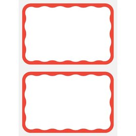 Name Tag - Red Border