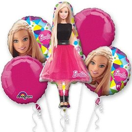 Foil Balloon - Barbie Bouquet - 5 balloons