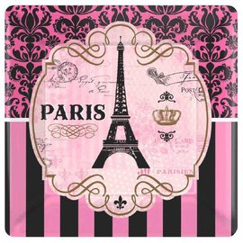 Day in Paris Square Plates- 7""