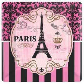 "Day in Paris Square Plates- 7"""