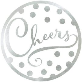 Silver Coasters- Cheers- 18pk