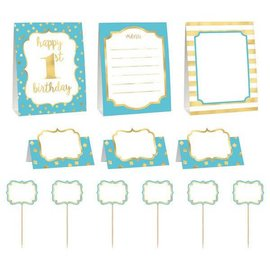 Buffet Decorating Kit - 1st Bday Blue