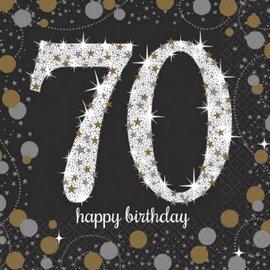 Napkins Bev - Sparkling Celebration 70th