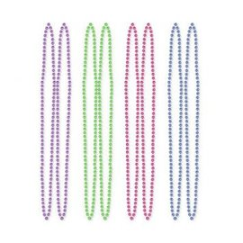 "Bead Necklaces 60"" (4PK)"