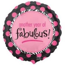 """Foil Balloon - 18"""" - Another year of fabulous!"""