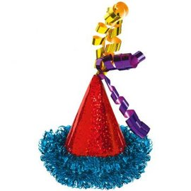 Bright Birthday Mini Cone Hat Hair Clip