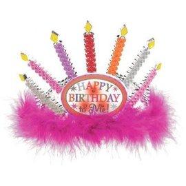 Tiara - Light up Birthday Candle
