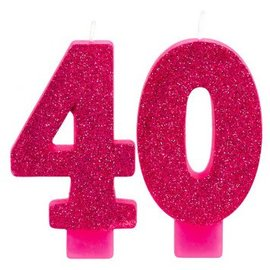 Candle - Pink and Gold Milestone 40